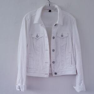 American Eagle White Denim Jacket XL